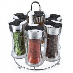 6-bottle spice rack carousel