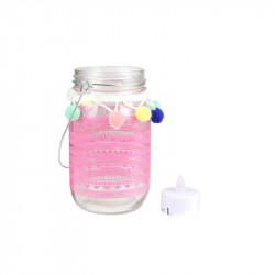 Grossiste bougeoir pour bougie LED 13.5cm rose