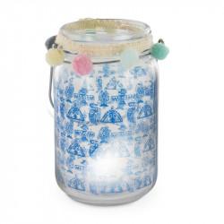 Grossiste bougeoir pour bougie LED 13.5cm bleue