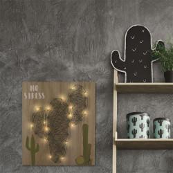 Grossiste décoration murale LED illustration cactus