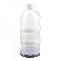 Grossiste et fournisseur. Boîte doseuse lait poudre empilable x3 taupe