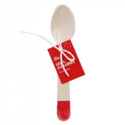 Grossiste cuillère de 14cm rouge x6