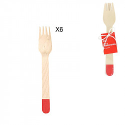 Fourchette de 16 cm rouge x6
