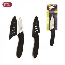 Grossiste et fournisseur. Couteau céramique 7,5 cm manche soft avec étui