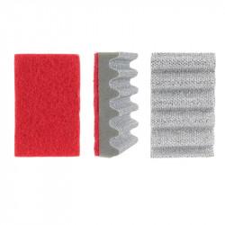 Grossiste et fournisseur. Éponge spéciale grilles de cuisson rouge et gris