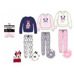 Grossiste pyjama manches longues doux minnie pour adultes assortiment 2