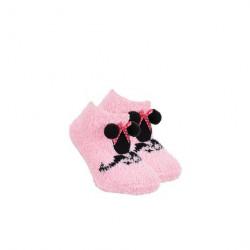 Grossiste soquettes antidérapantes minnie avec pompons