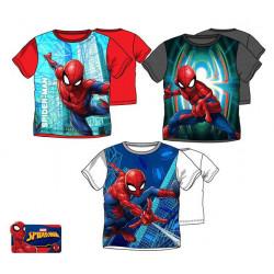 Grossiste t-shirt 100% coton manches courtes spiderman assortiment 1