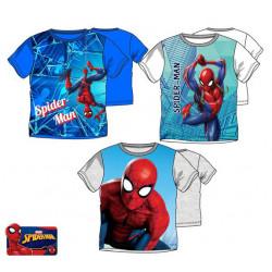 Grossiste t-shirt 100% coton manches courtes spiderman assortiment 2