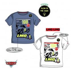 Grossiste t-shirt manches courtes phosphorescent cars 3 disney