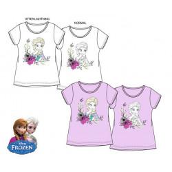 Grossiste t-shirt manches courtes reine des neiges à couleurs changeantes