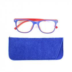 Grossiste lunette avec reflet bleu pour enfant bleue