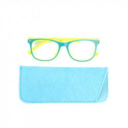 Grossiste lunette avec reflet bleu pour enfant verte