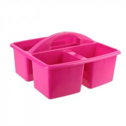 Grossiste bac de nettoyage à 3 compartiments roses