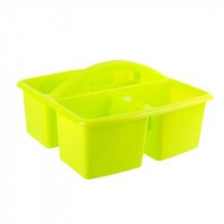 Grossiste bac de nettoyage à 3 compartiments jaunes