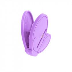 Grossiste pince à linge fantaisie x10 violette