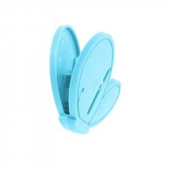 Grossiste pince à linge fantaisie x10 bleu