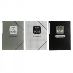 Grossiste pochette à élastiques x3 gris