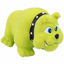 Bulldog rubber dog toy