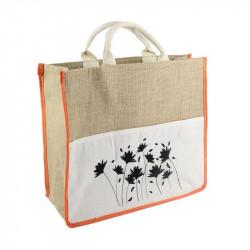 Grossiste sac shopping en toile orange