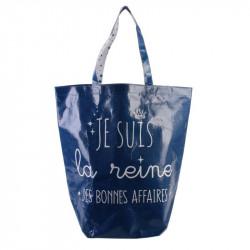 Grossiste sac shopping 44x45x22cm bleu