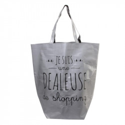 Grossiste sac shopping 44x45x22cm gris