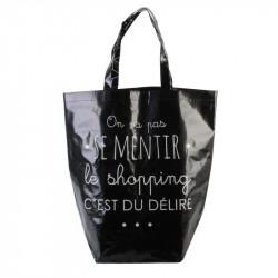 Grossiste sac shopping 44x45x22cm noir