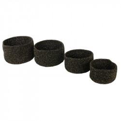 Panier tricot noir et fibre...