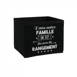 Grossiste cube de rangement 3L noir