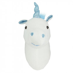 Grossiste tête de licorne murale bleue