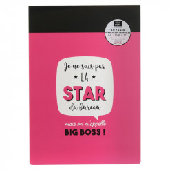 Grossiste bloc-notes A4 60 pages rose