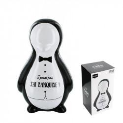 Grossiste tirelire en forme de pingouin en costume