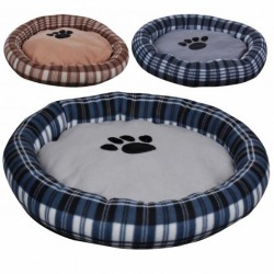 Plaid pattern soft dog bed
