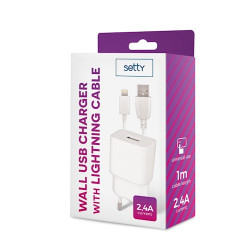 Chargeur mural USB blanc...