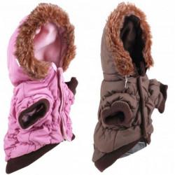 Fur collar coat for dog