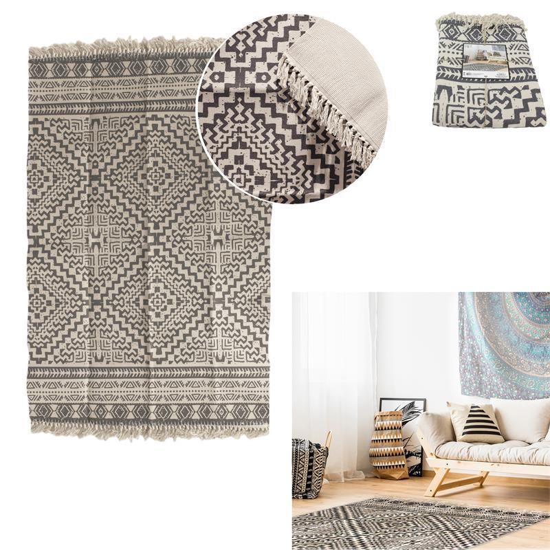 Grossiste tapis en losange avec franges 140x200cm