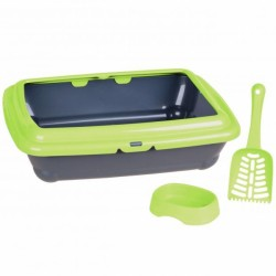 Set of cat litter pan with...