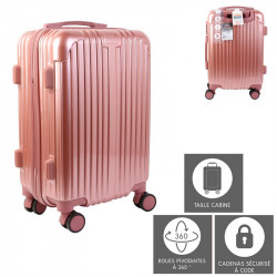 Valise cabine rose Paris 40L