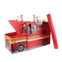 Grossiste coffre de rangement en forme de bus rouge