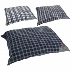 Plaid pillow bed - 47x40""
