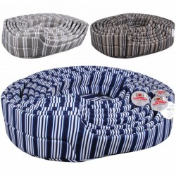 Stripped pattern dog bed