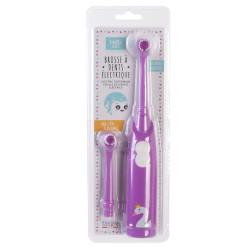 Grossiste brosse à dents électrique violette avec recharge pour enfant