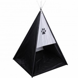 Dog bed teepee/tent - black...