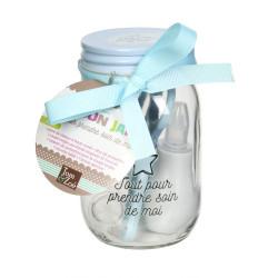 Grossiste Mason jar spécial hygiène bleu
