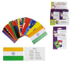 Grossiste carte éducative spécial pays et drapeaux x60