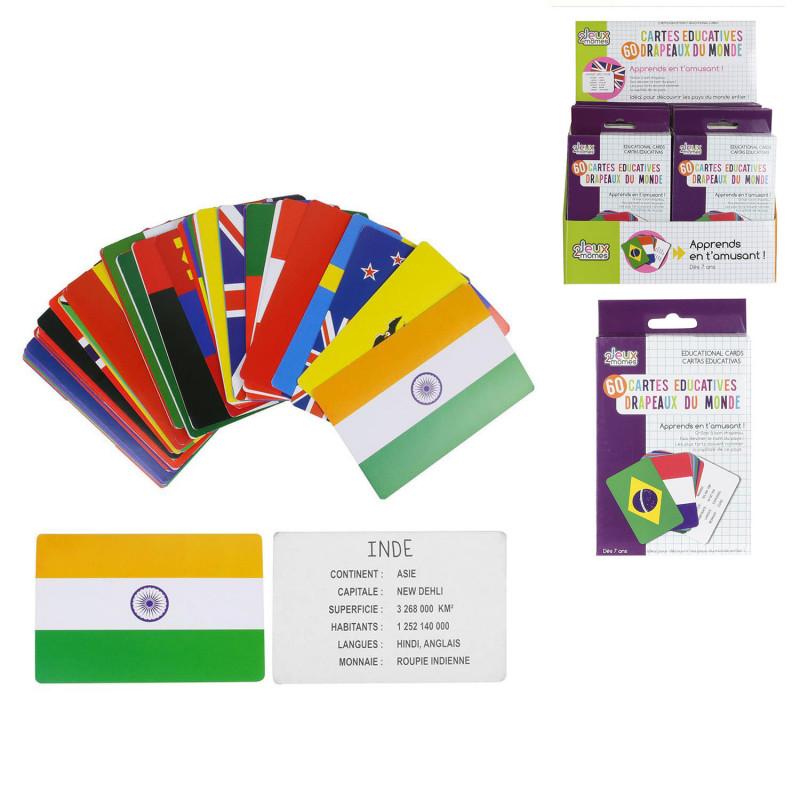 Grossiste carte éducative spécial pays et drapeaux
