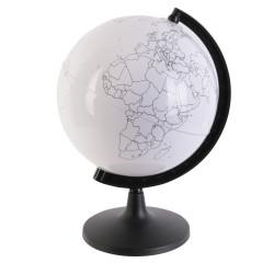 Grossiste globe rotatif à personnaliser et 6 feutres 22cm