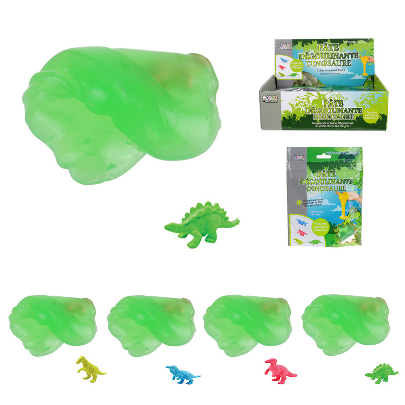 Grossiste pochette pâte gluante avec jouet dinosaure