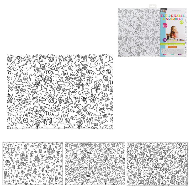 Grossiste set de table à colorier x10