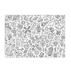 Grossiste set de table à colorier spécial espace x10